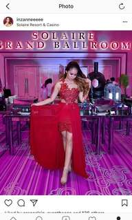 Red backless sexy gown FOR RENT / SALE