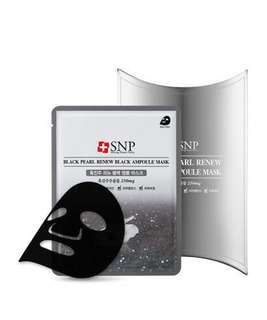 SNP Black Pearl Renew Black Ampoule Mask (10 sheets)