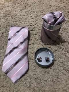 men's tie cufflinks & pocket square combo #2