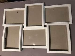 White multiple photo frames