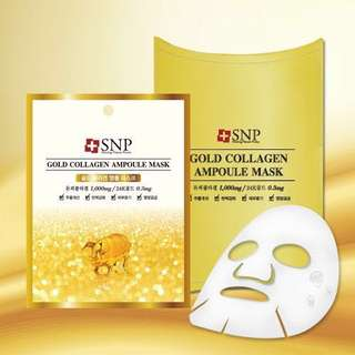 SNP Gold Collagen Ampoule Mask (10 sheets)