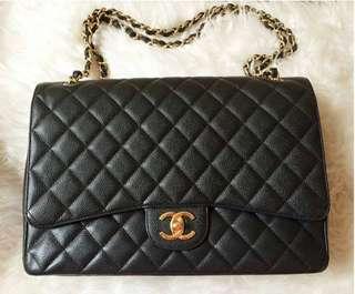 Chanel Maxi Caviar Skin GHW