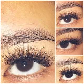 Eyelash extensions $40