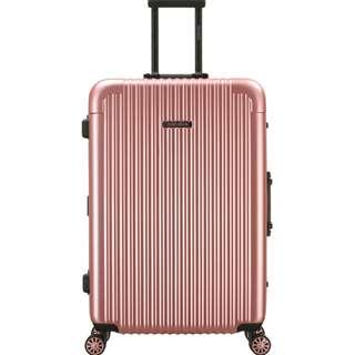 CLE克利夫蘭玫瑰金☆CENTURION☆行李箱航空城 網路最低價 拉鍊款 鋁框 行李箱 旅行箱 22.26.29吋