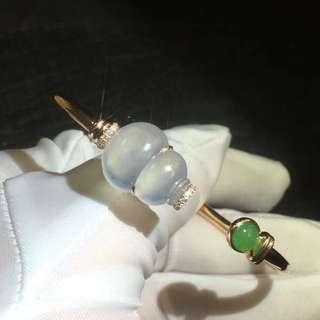 18k鑽石天然A貨翡翠手鐲