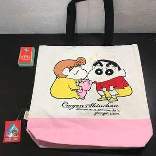日本蠟筆小新麻布袋