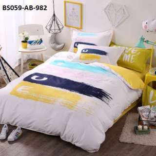 [982] 4pcs Cotton BedSheet AB [Super Single/Queen/King] #BS059 #ezwayenterprise #FreeWMPosatge #Onesize