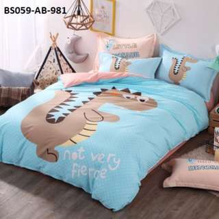 [981] 4pcs Cotton BedSheet AB [Super Single/Queen/King] #BS059 #ezwayenterprise #FreeWMPosatge #Onesize