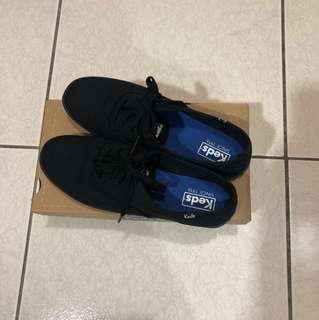 二手‼️keds黑色帆布鞋#24.5