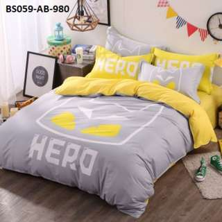[980] 4pcs Cotton BedSheet AB [Super Single/Queen/King] #BS059 #ezwayenterprise #FreeWMPosatge #Onesize