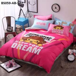 [977] 4pcs Cotton BedSheet AB [Super Single/Queen/King] #BS059 #ezwayenterprise #FreeWMPosatge #Onesize