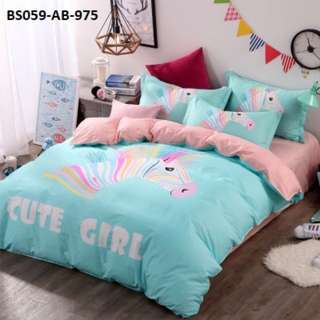 [975] 4pcs Cotton BedSheet AB [Super Single/Queen/King] #BS059 #ezwayenterprise #FreeWMPosatge #Onesize