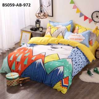 [972] 4pcs Cotton BedSheet AB [Super Single/Queen/King] #BS059 #ezwayenterprise #FreeWMPosatge #Onesize