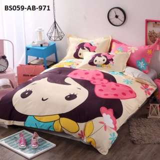 [971] 4pcs Cotton BedSheet AB [Super Single/Queen/King] #BS059 #ezwayenterprise #FreeWMPosatge #Onesize