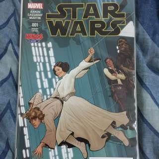 Star Wars #1 Marvel Variant Kings Comics Homage AF15 Spiderman Variant Leia & Luke