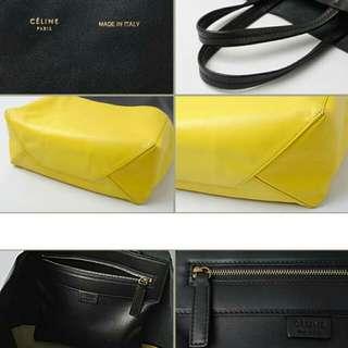 Authentic Celine Bi-Colored Cabas Tote Bag