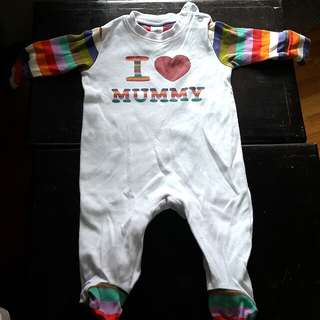 I LOVE MUMMY WHOLE ONESIE