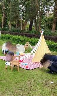Pre weddding 拍攝佈置 野餐區