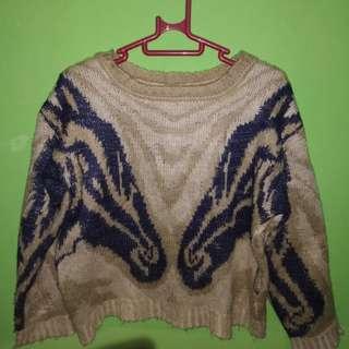 Sweater rajut asli, kondisi 90%