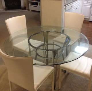 Glass Dining Table moving out sale. No chairs.