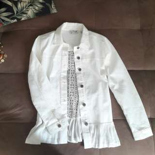 Simply Noelle white denim with lace jacket