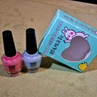 UNTx粉嫩雙色指甲油(實拍)