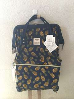 🔥MOVING OUT SALES 🔥 Authentic Anello Navy Pinapple Backpack
