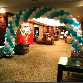 Birthday decorations Balloon arch