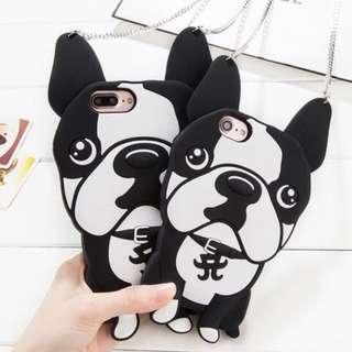 手機殼IPhone6/7/8/plus(沒有X) : 可能鬥牛犬造型全包膠軟殼