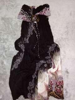 Halter Black Summer Dress for 7-9 yrs. Old
