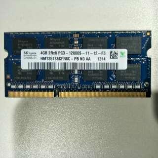 Used Hynix 4GB PC3-12800S laptop DIMM