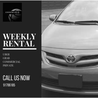 Toyota Cars for Rent/Lease