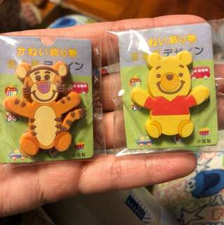 Winnie the Pooh and tiger 扣針