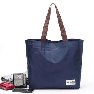Logos 藏青色 防水 單肩購物袋