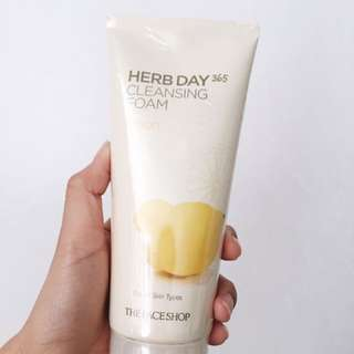 Authentic The Face Shop Herb day Cleansing Foam