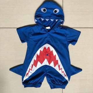 Shark costume romper for 12-18 months