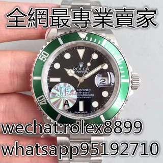 環亞  免訂面交 JF廠 ROLEX SUB 16610LV-93250 鈦質圈 舊款 綠水鬼 綠圈黑面 40MM