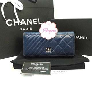 Authentic Chanel Distressed Calf Leather L-Flap Long Wallet SHW {{ Only For Sale }} ** No Trade ** {{ Fixed Price Non-Neg }} ** 定价 **