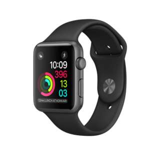 Apple iWatch Series 1 42mm Space Gray Aluminum Case Black Sport Band - Space Gray Aluminum