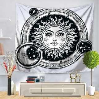 Moon Sun Wall Decor Mandala Tapestry