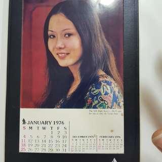#0330 - Singapore Airlines SIA - 1976 calendar