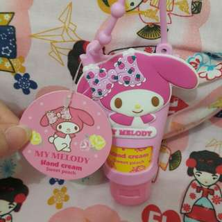 Hand cream my melody sweet peach pink cute sanrio