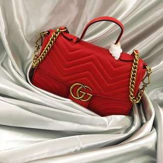 Women GG Marmont  Top Handle Bag