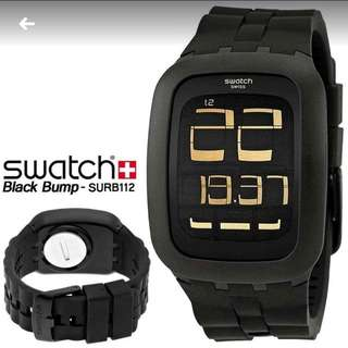 Swatch SURB100 digital touch rubber strap black dial unisex watch