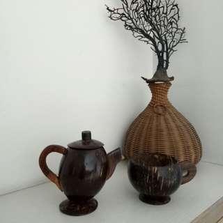 椰子殼藝術品