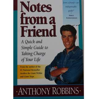 English book : Notes from a Friends  ( Author : Anthony Robbins )