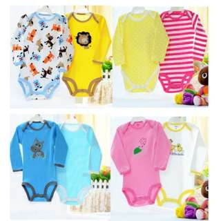 (5pcs in a pack) Baby Carter's LONG SLEEVE Romper