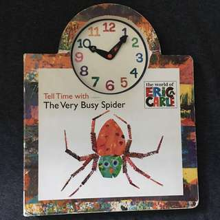 Tell time with The Very Busy Spider by Eric Carle
