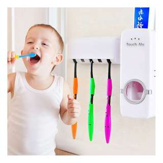 Automatic Toothpaste Dispenser + Toothbrush Holder (HL-0011)