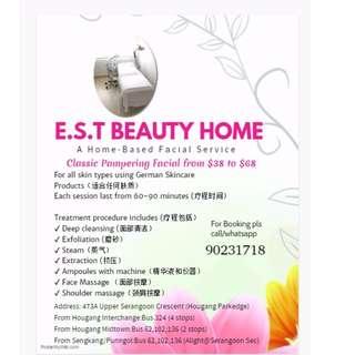 Home Based Facial Treatments at Hougang / Upper Serangoon Crescent